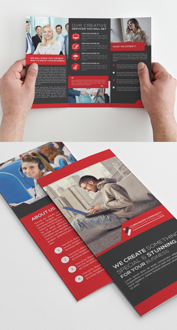 Freebie Tri-Fold Corporate Brochure