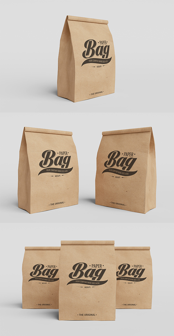 Free Packaging Paper Bag PSD Mockups