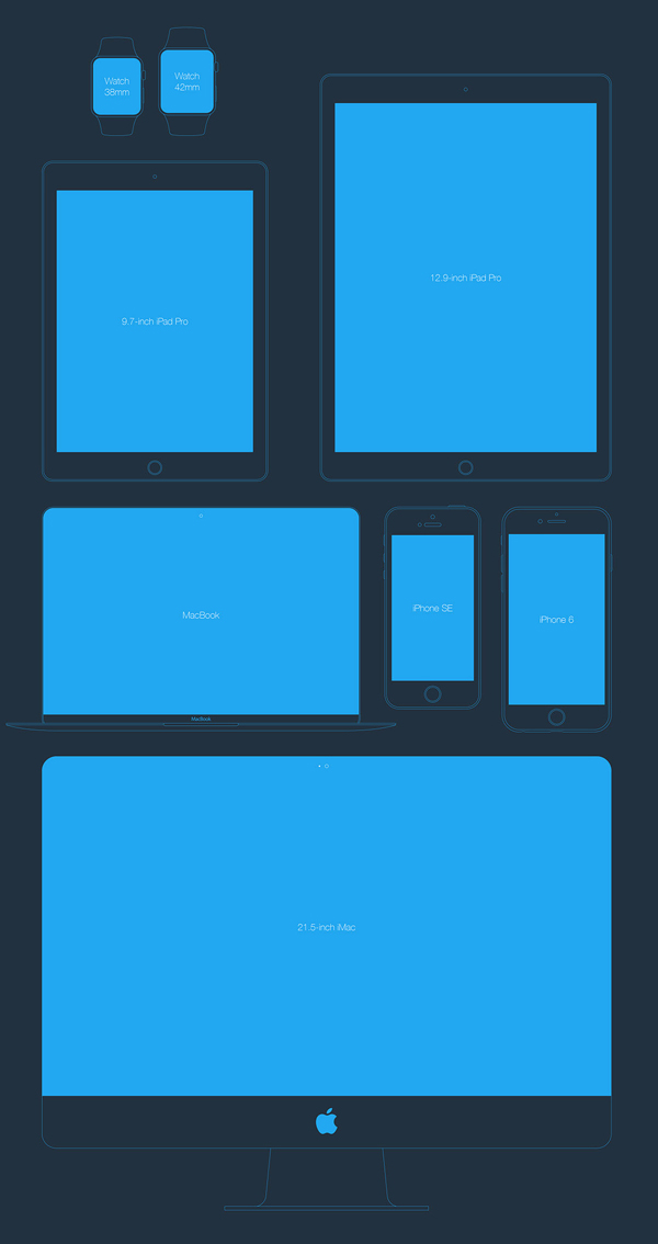 Free Apple Devices Mockups PSD