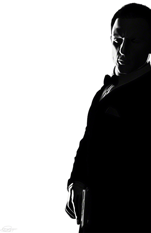 007 Black and White