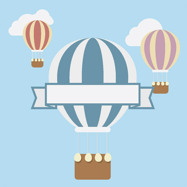 Create a Flat Hot Air Balloon in Adobe Illustrator