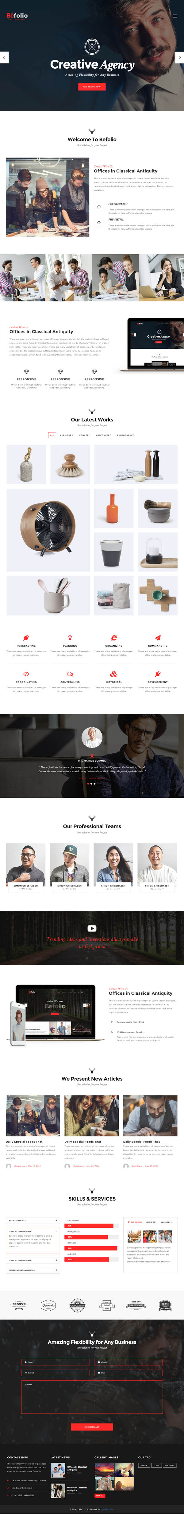 Befolio – Creative Multi-Purpose WordPress Theme