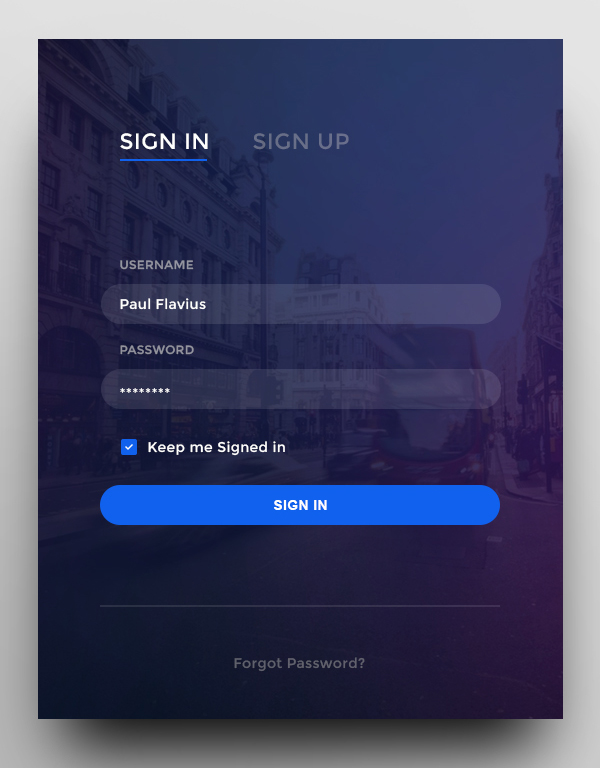 Free PSD Login Form