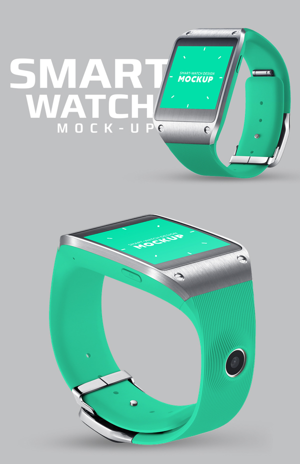 Square smart watch mockup