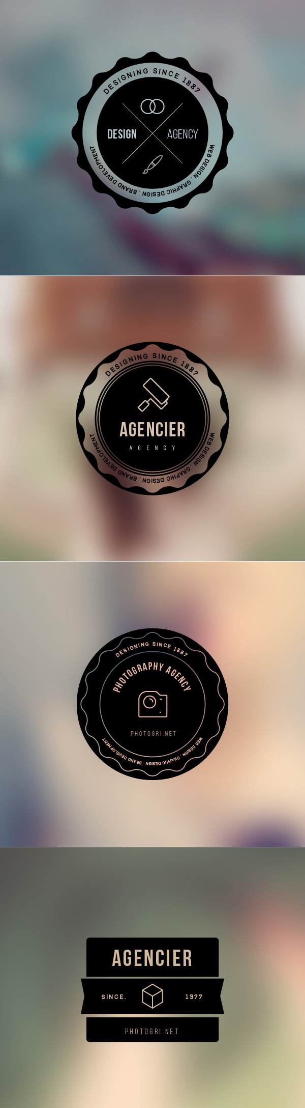 Free Vector Badges PSD Files