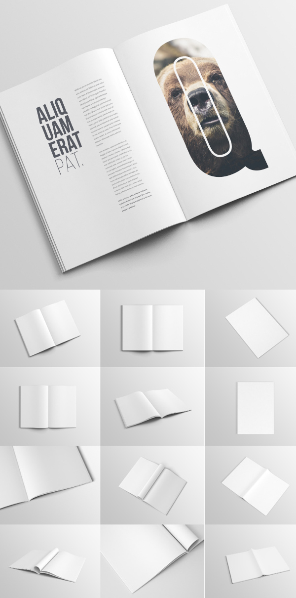 Free A4 Magazine / Booklet Mockup Template