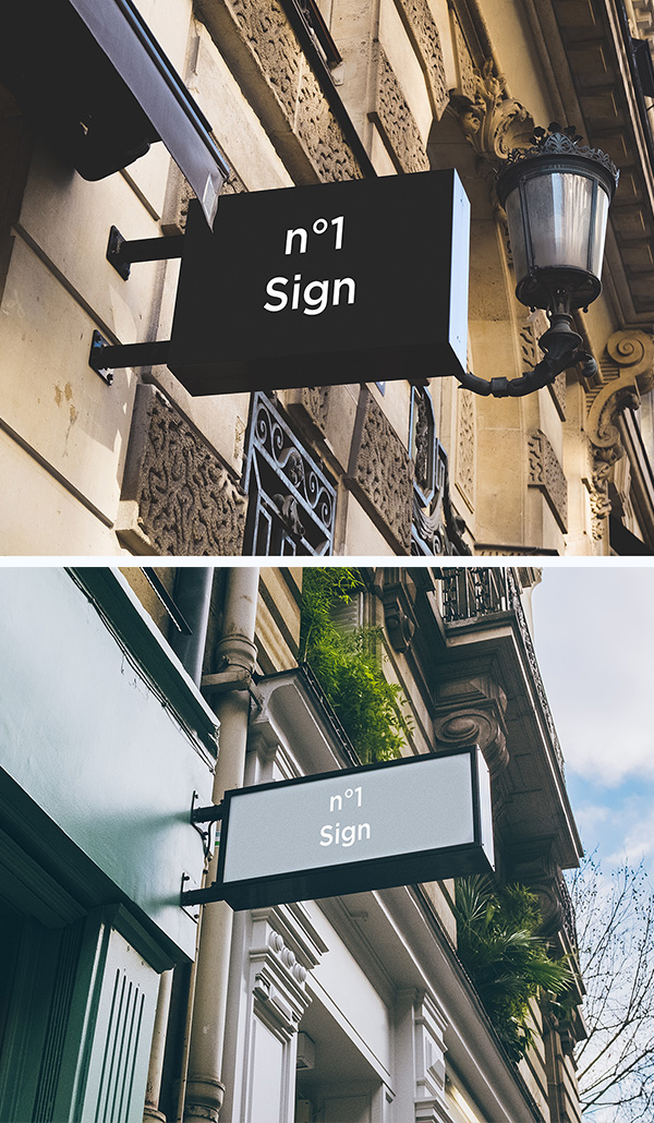 Realistic Free Hip Signs Mockups