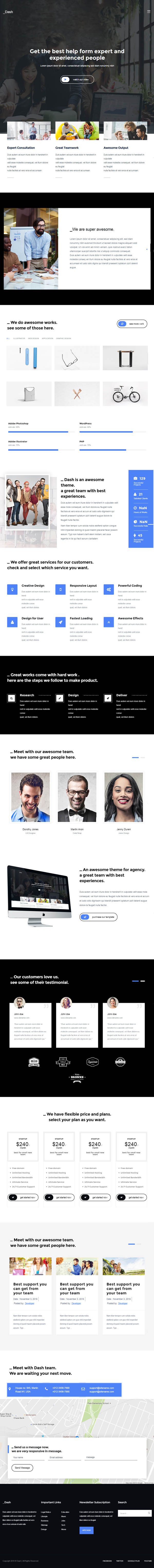 Dash – Corporate Agency Business Firm Theme