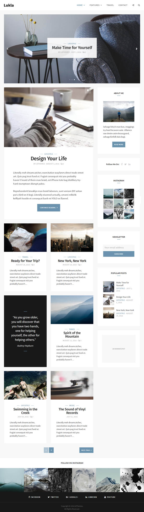 Lukla – A Responsive WordPress Blog Theme