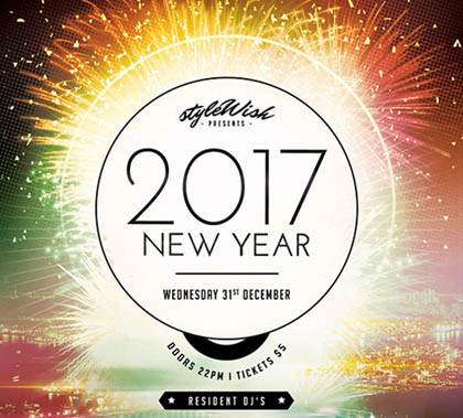 Post thumbnail of New Year 2017 – Graphic & Print Design Resources