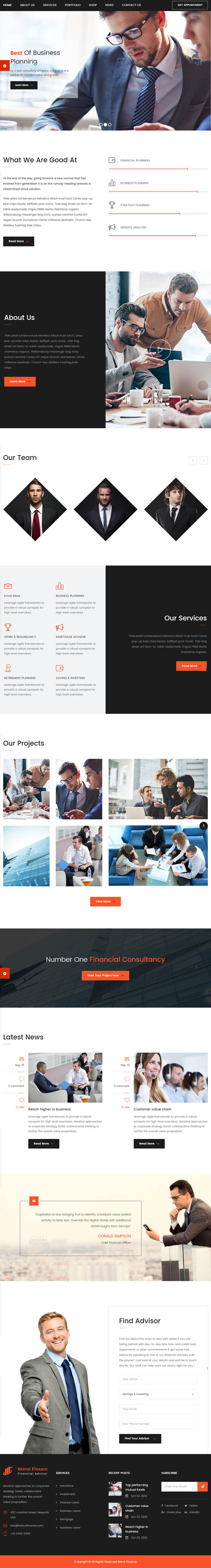 Beirut : Business, Finance and Consultancy WordPress Theme