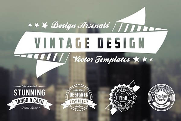 Retro Logo & Badge Templates - 1