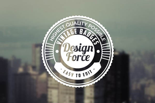 Retro Logo & Badge Templates - 4