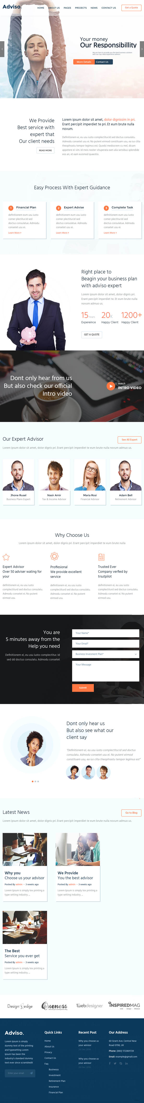 Adviso : Finance, Consulting, Business WordPress Theme