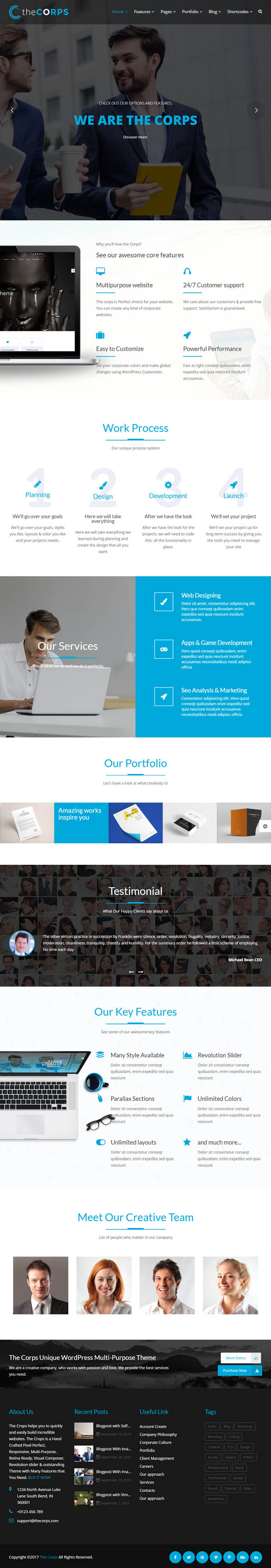 The Corps : Multi-Purpose WordPress Theme