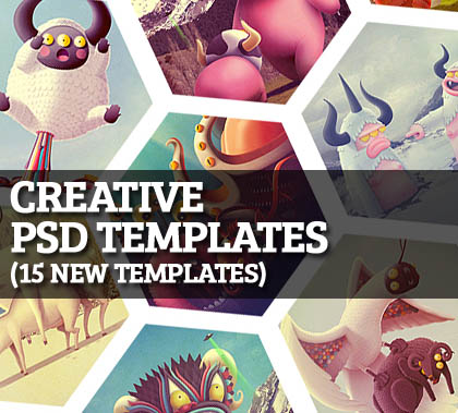 Post thumbnail of Creative Web PSD Templates (15 New Templates)