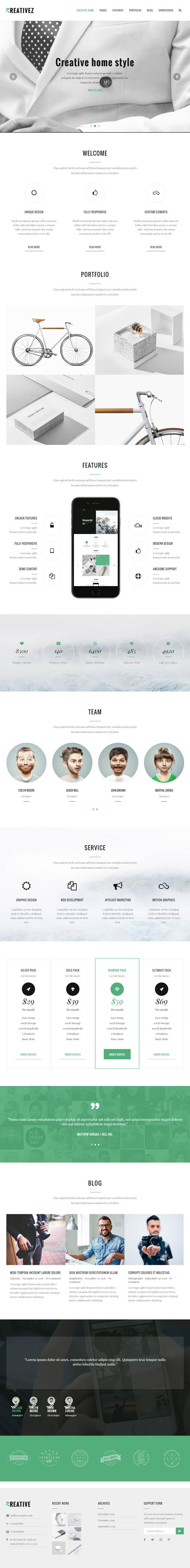 Creativez : Responsive & Multipurpose WordPress Theme
