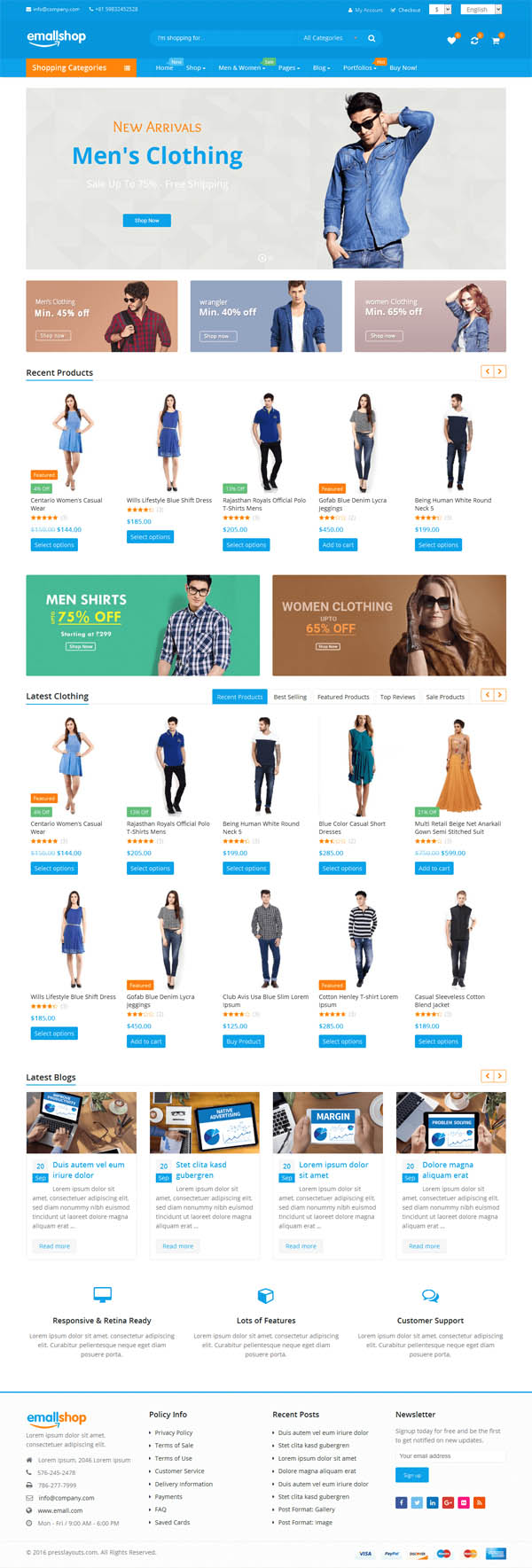 EmallShop : Responsive Multipurpose WooCommerce Theme