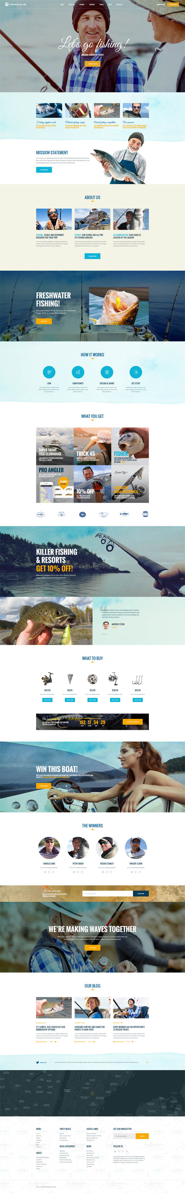 Fishing Club – Fishing | Camping | Travel Club WordPress Theme
