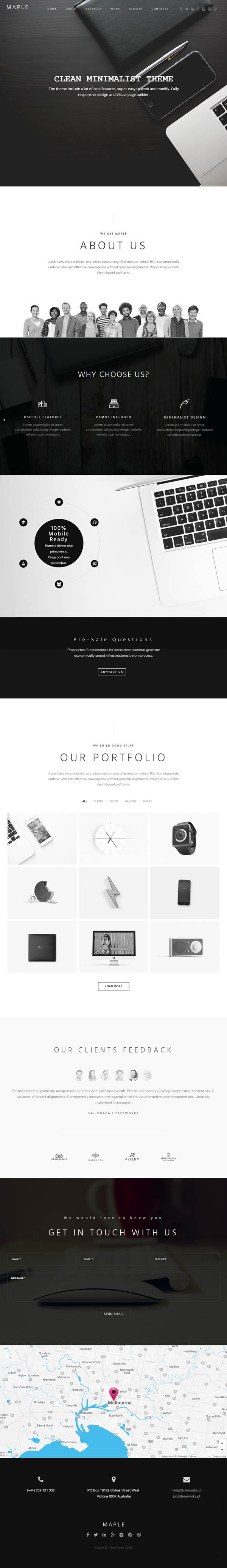 Maple : Responsive Clean Multi-Purpose WordPress Theme