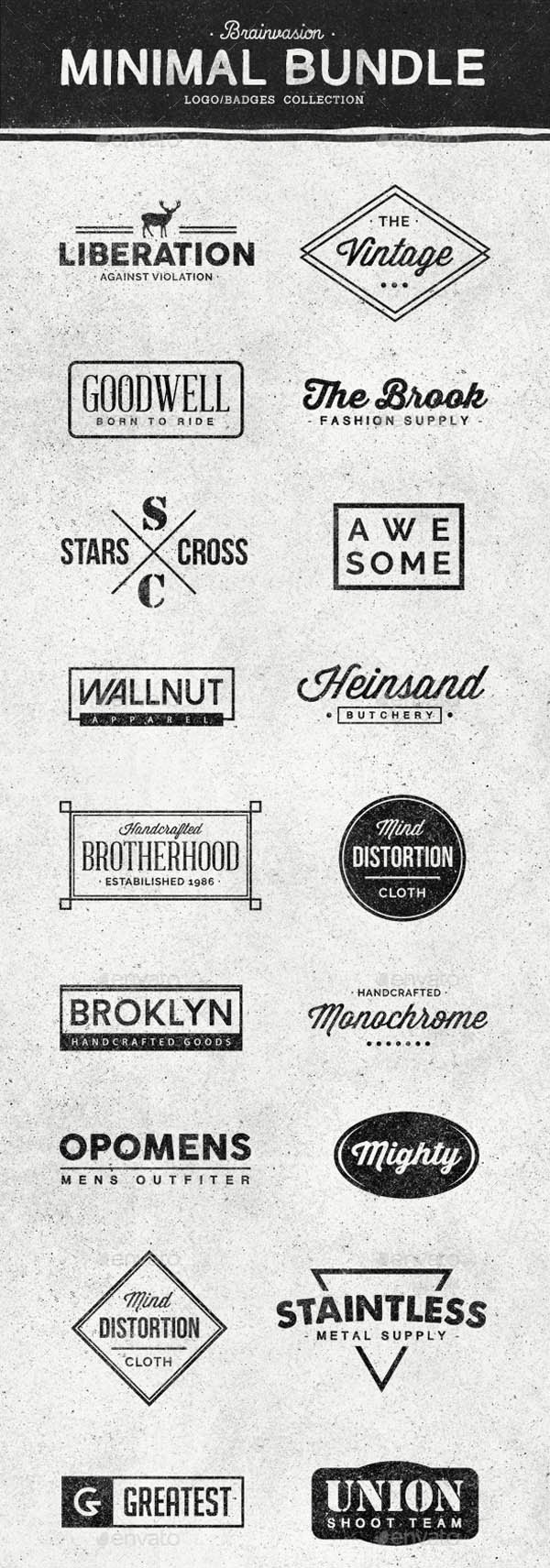 Minimal Logo/Badges Bundle - 1