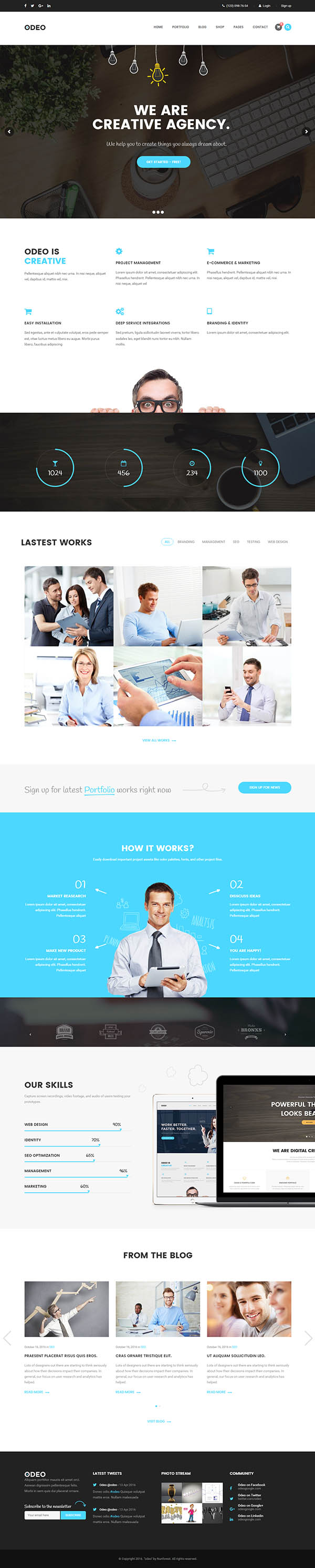 ODEO : Multipurpose & Business WordPress Theme
