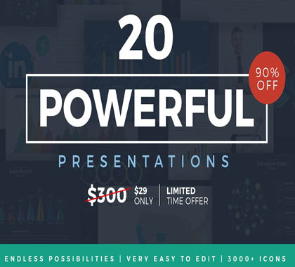 Post thumbnail of 20 Powerful Presentations Bundle