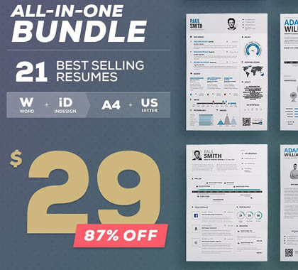 Post thumbnail of All-in-One Resume Bundle