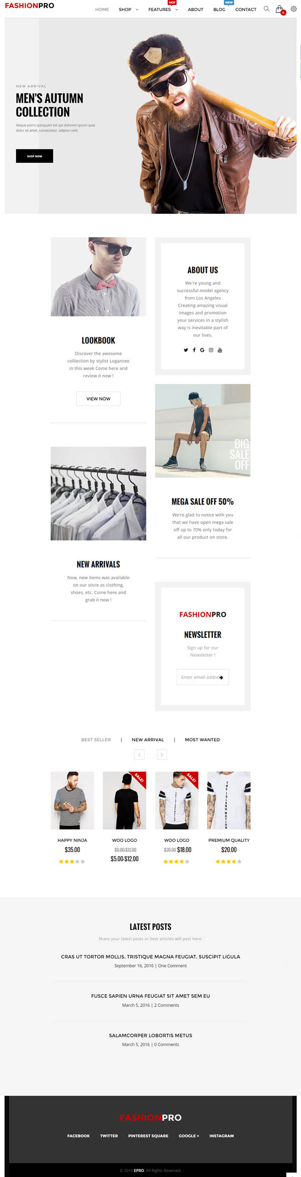 ePro : Multipurpose WooCommerce Theme