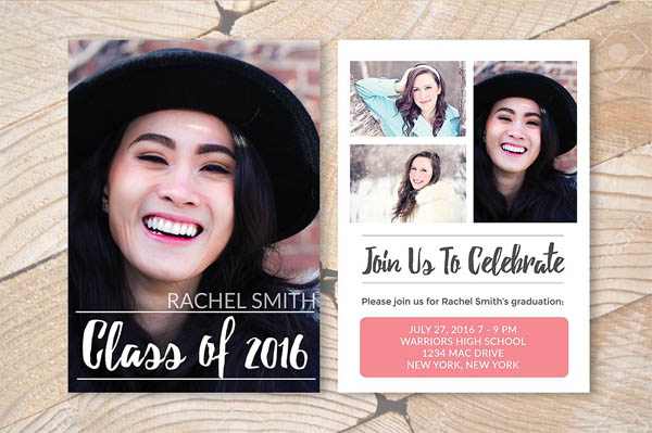 Senior Grad Announcement Template