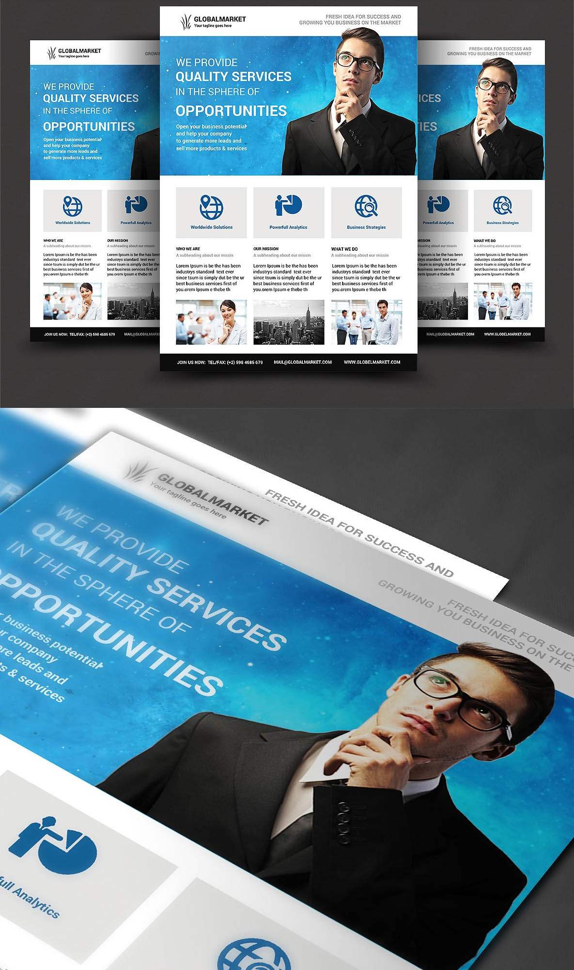 awesome corporate flyer templates