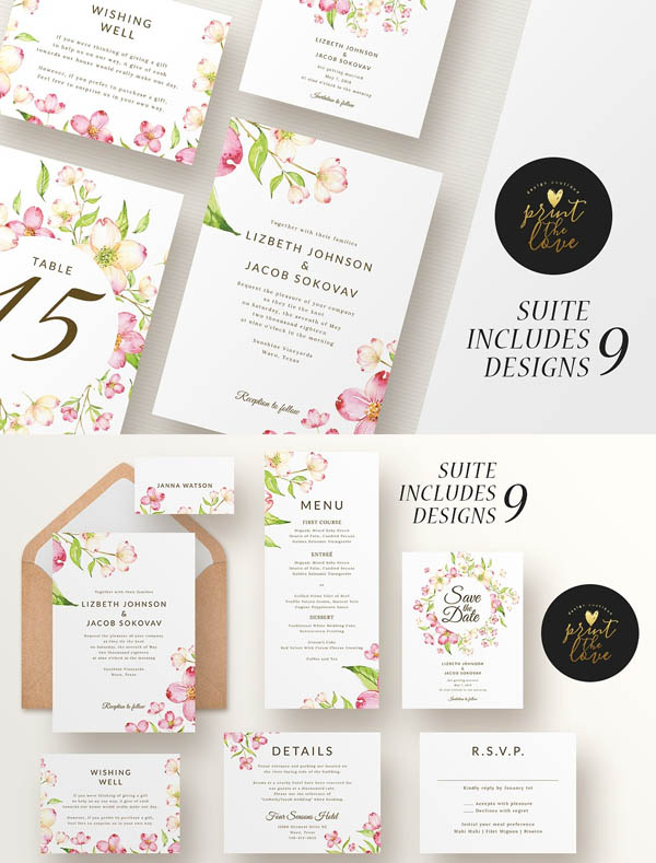 Wedding Invitation Suite - Lizbeth