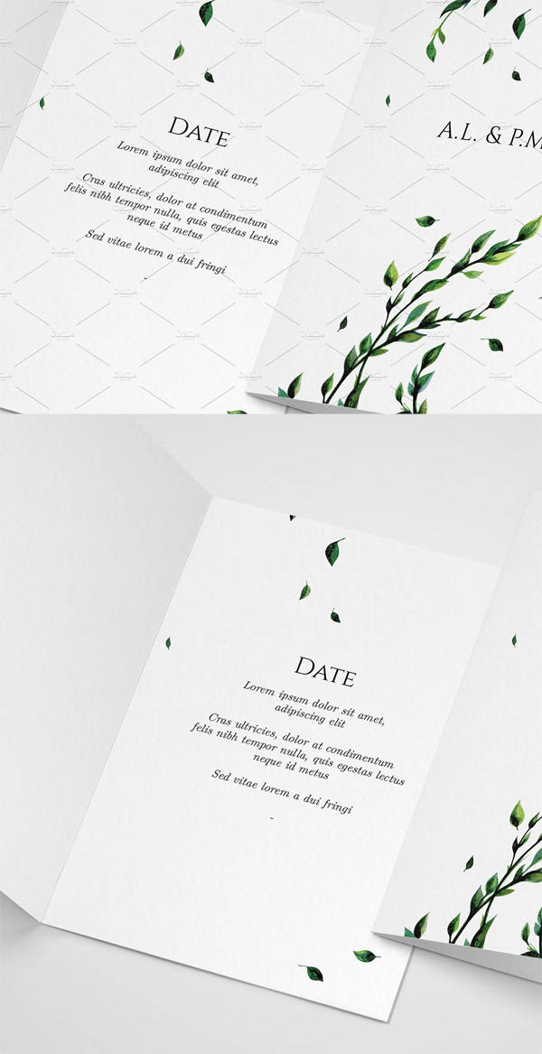 Floral Watercolour Invitation
