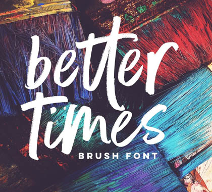 Post thumbnail of Better Times Brush Font