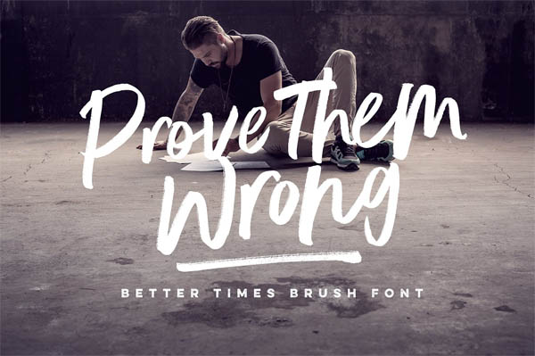 Better Times Brush Font - 7