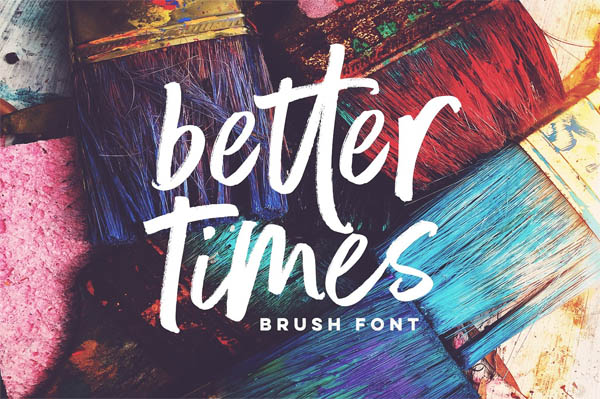 Better Times Brush Font - 8