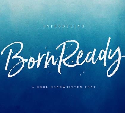 Post thumbnail of Born Ready Marker Font