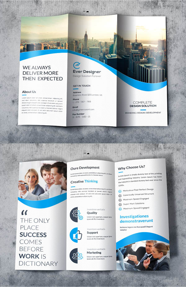 Business Trifold Brochures