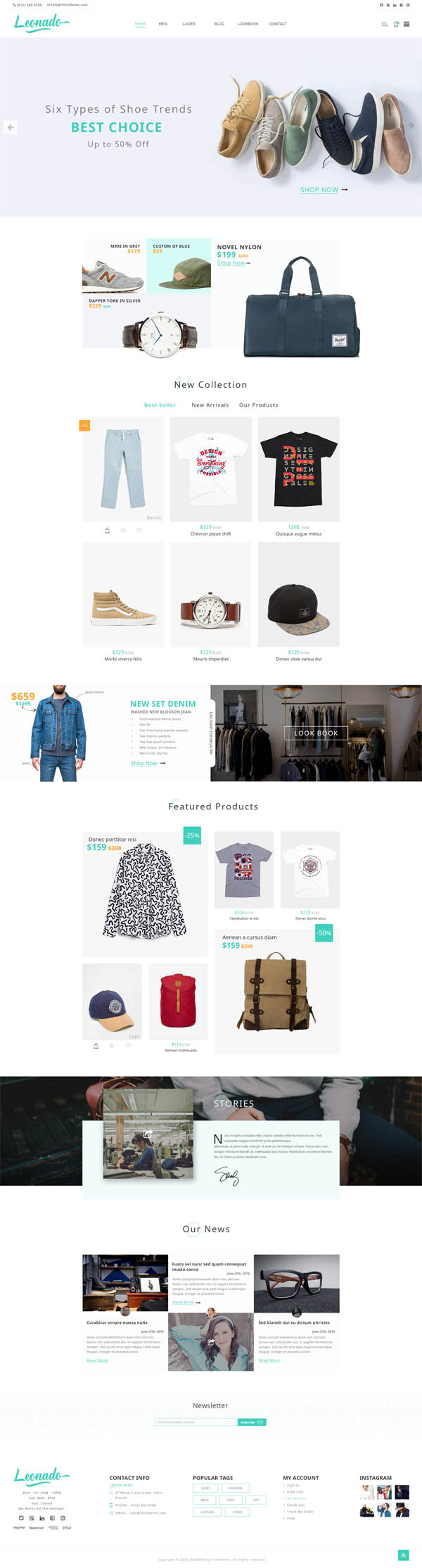 Leonado : Multi-Concepts WooCommerce WordPress Theme