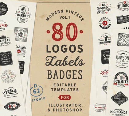 Post thumbnail of 80 Modern Vintage Logos vol 1