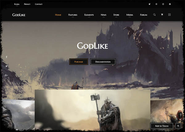 Godlike - Gaming WP Theme By nK (Russia)