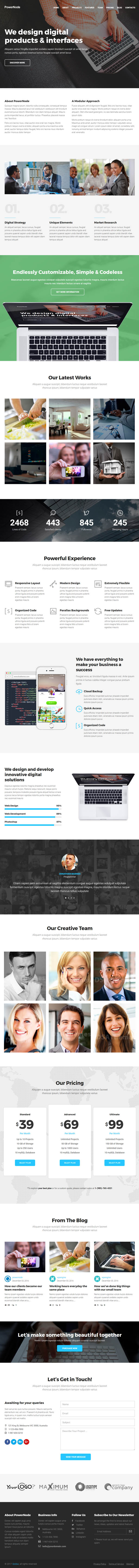 PowerNode : Multi-Purpose Landing Page WordPress Theme