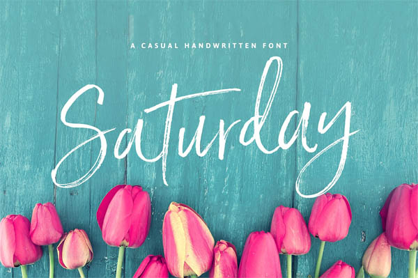 Saturday Script Brush Font - 1