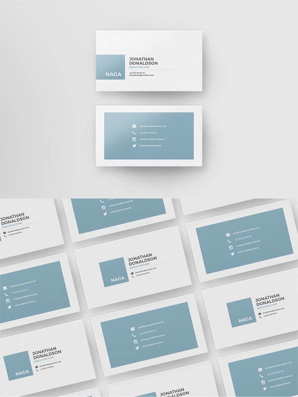 Naga - Business Card Template