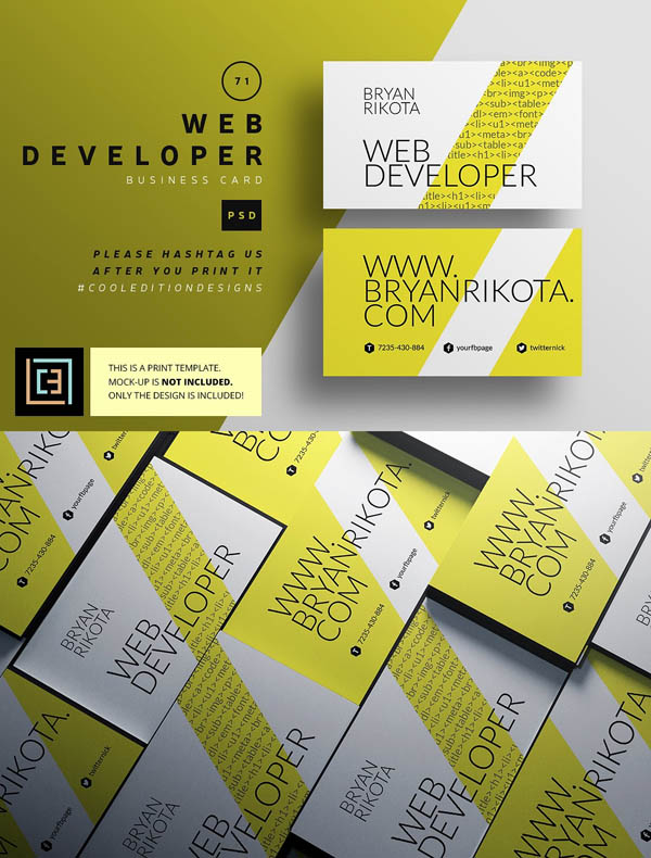 Web Developer - Business Card 71
