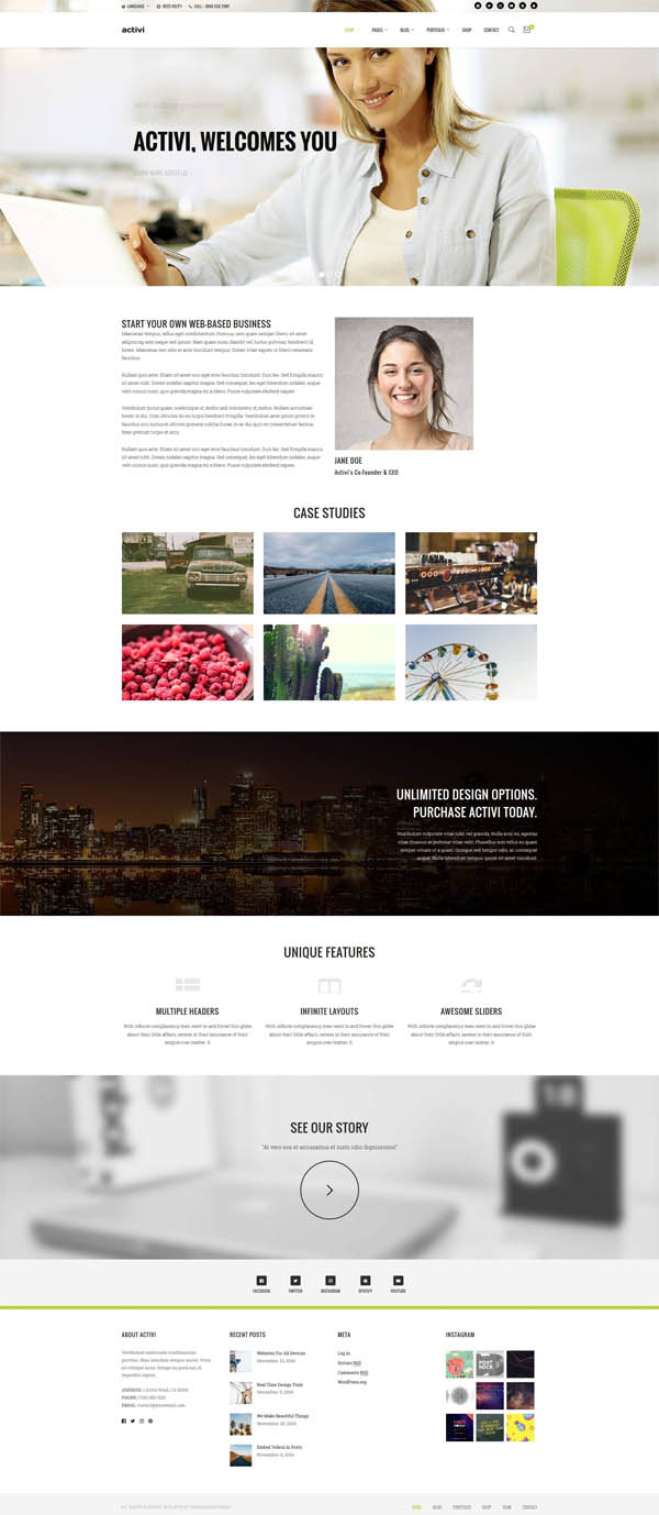 Activi – Multi-Purpose WordPress Theme
