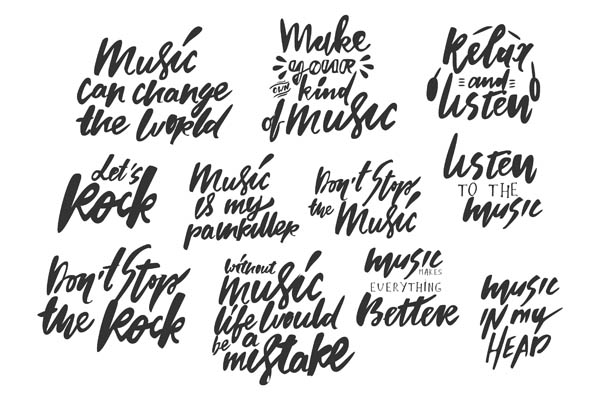 Music big lettering set