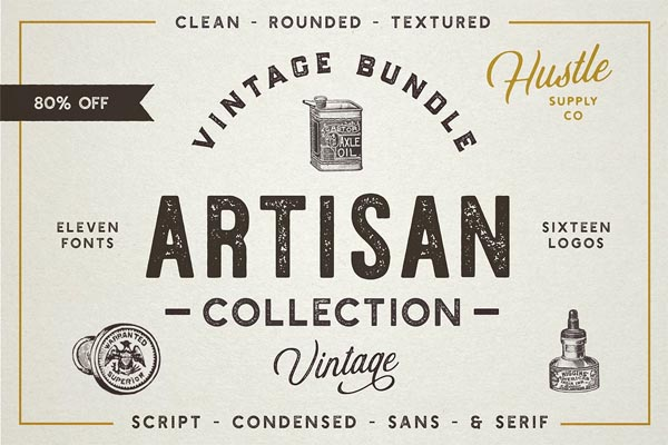 The Artisan Collection (Font Bundle) - 1