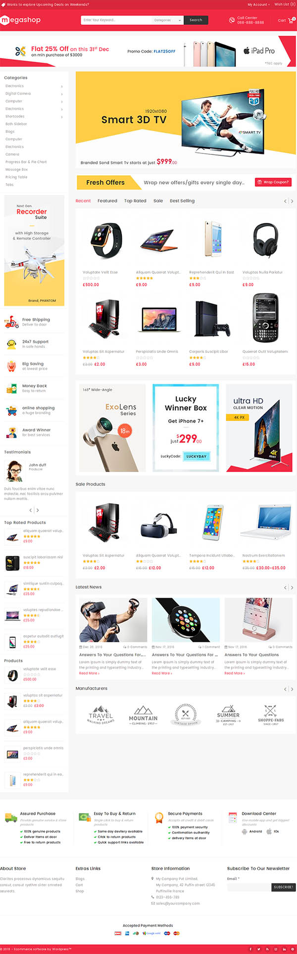 Mega Shop – WooCommerce Multi-Purpose Responsive Theme