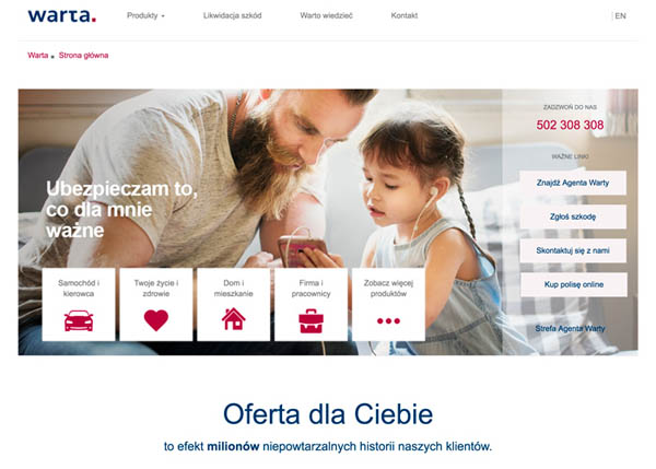 WARTA INSURANCE COMPANY by Warta Team and UXeria
